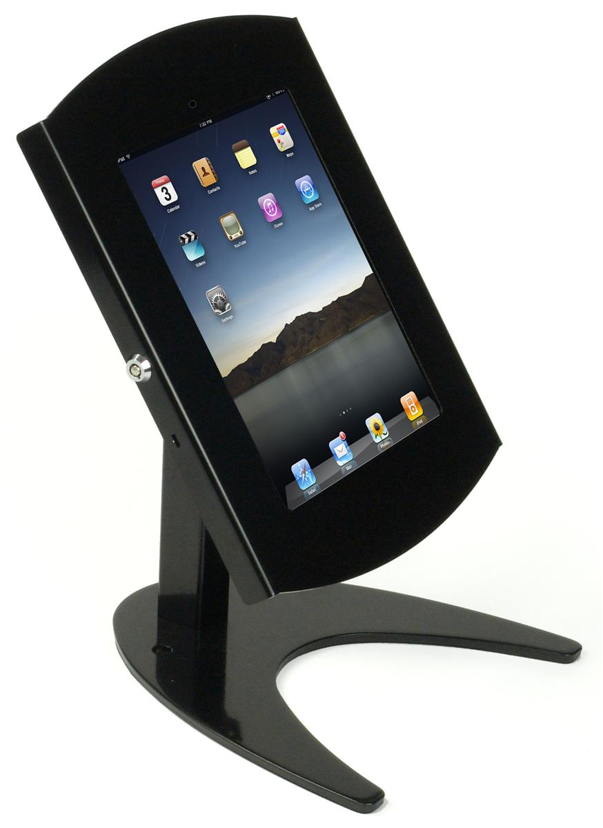 Ipad Countertop Stand Locking Enclosure For Tablets