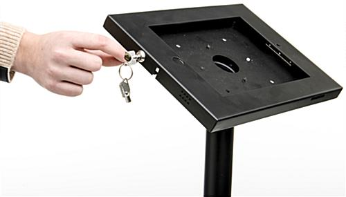 Industrial Tablet Kiosk Ipad Stand For Floor Locking