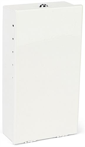 White locking pole mount utility box