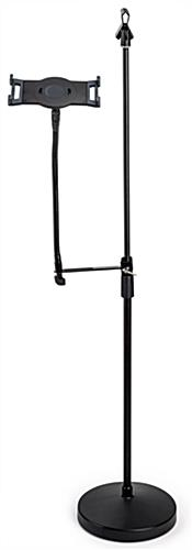 Universal tablet holder mic stand mount with adjustable height