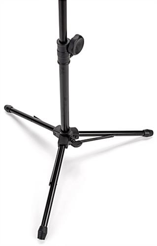 Adjustable microphone stand tablet holder with tripod base