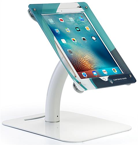 Printed 12.9 Inch iPad Kiosk for Countertops