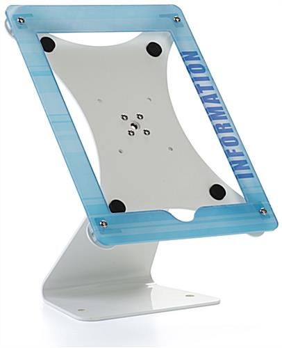 Custom Swiveling iPad Stand with UV Printing