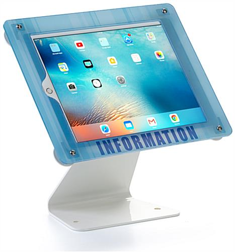 Custom Swiveling iPad Stand with Rotating Enclosure