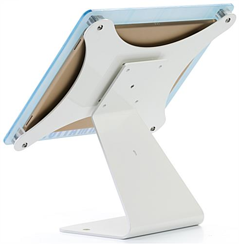 Custom Swiveling iPad Stand with Security Slot