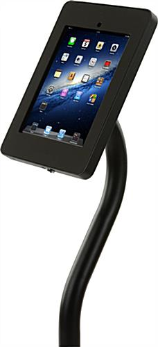 Curved iPad Stand with Banner Hanger