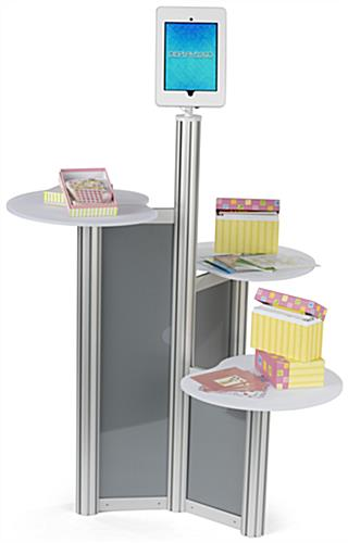 iPad Retail Display Stand with Sample Space