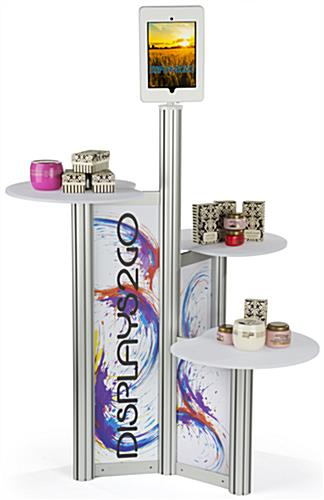 Printed iPad Retail Display with 3 Tiers