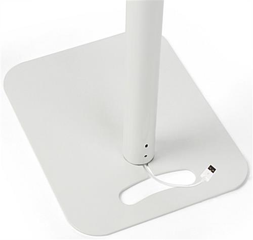 Floor to Counter Tamper-Proof Tablet Holder with Cable Management