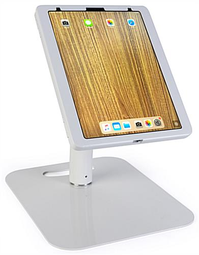 Adjustable 12.9 iPad pro stand for countertops and tables