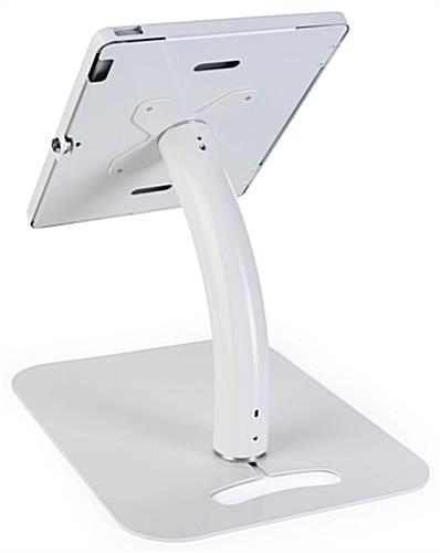 Adjustable 12.9 iPad pro stand with gooseneck arm pole