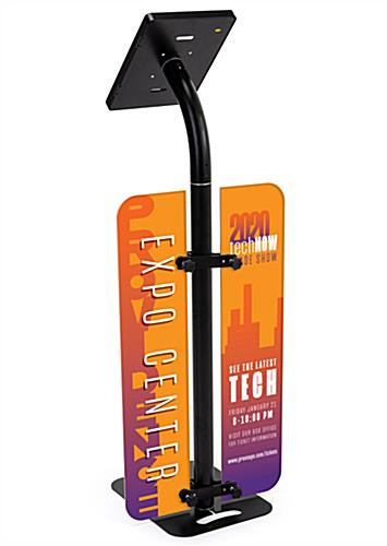 48 inch branded iPad survey stand