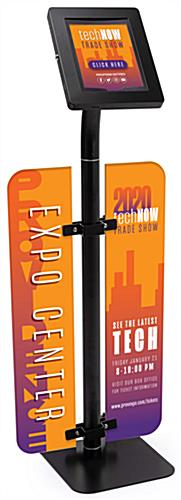 Height adjustable branded iPad survey stand