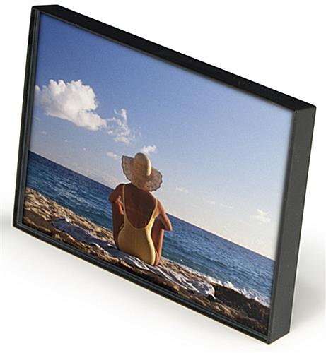 4 X 6 Black Plastic Picture Frame Wall Or Tabletop
