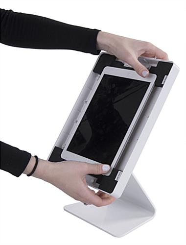 Tablet Counter Stand with Padded Enclosure