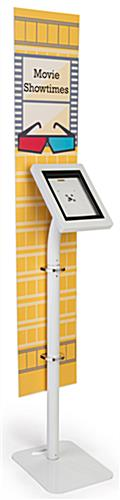 iPad foam board banner floor stand with large custom graphic