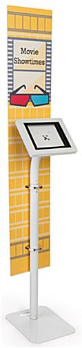 iPad foam board banner floor stand with portrait or landscape orientation options