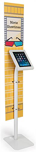 iPad foam board banner floor stand with custom graphics