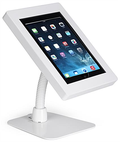 Flex arm iPad tablet holder with ABS enclosure