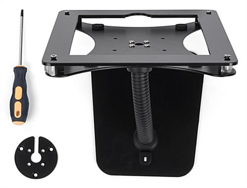 Flex arm tablet mount custom holder for 12.9 iPad with all hardware included