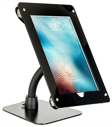 Flexible gooseneck tablet mount holder for iPad