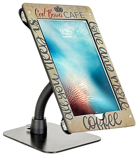Personalized flex arm tablet mount custom holder for 12.9 iPad