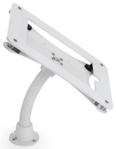 White wall/counter mount iPad frame with permanent mounting option