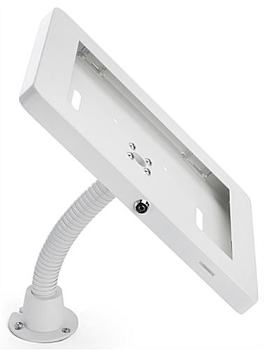 Anti-theft multi-mount iPad tablet stand with permanent base installation option