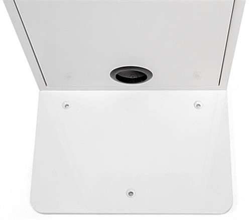 Floor stand for tablet with 3 holes in base for bolting to floor
