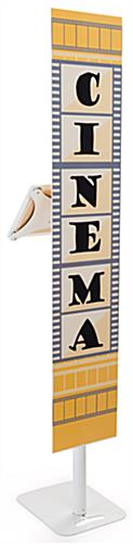 Hybrid iPad Pro foam board banner stand with double-sided custom graphics