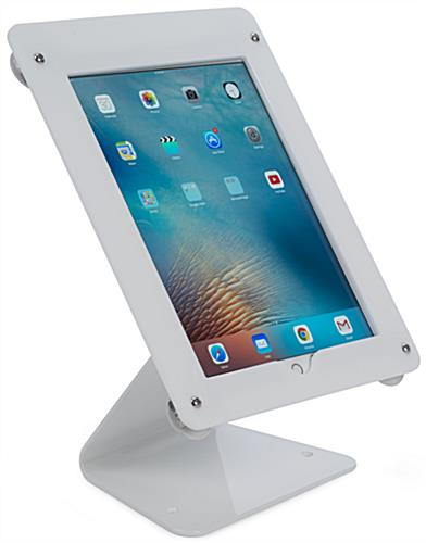 White iPad Pro Swivel Stand