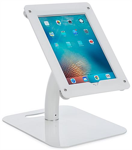 Hybrid iPad Pro foam board banner stand with tabletop or freestanding options