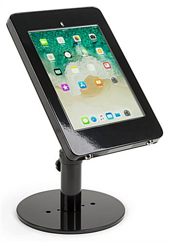 Countertop Locking Ipad Pro Tablet Stand Black Steel Frame
