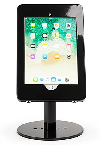 Countertop iPad Pro tablet stand in portrait orientation