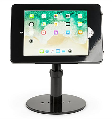 Countertop iPad Pro tablet stand in landscape mode