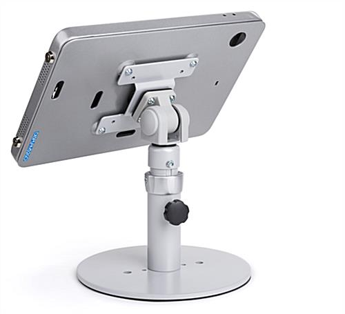 Countertop iPad Pro tablet holder adjustment knob