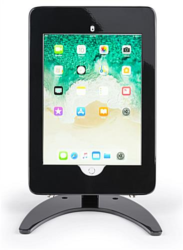 Countertop iPad Pro tablet enclosure in portrait