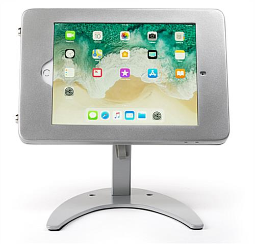 Countertop iPad Pro tablet holder stand in landscape orientation