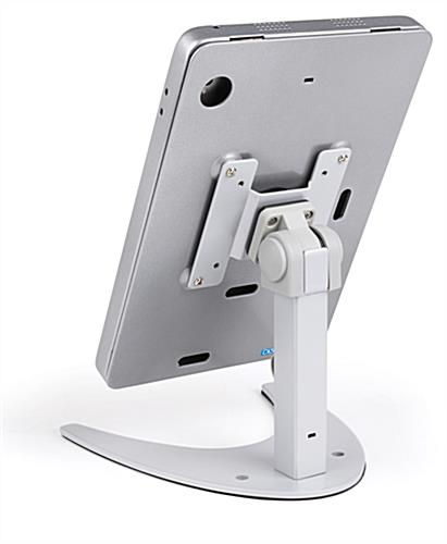 Countertop iPad Pro tablet holder stand with tilting bracket
