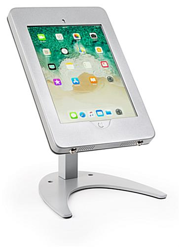 Countertop iPad Pro tablet holder stand with durable steel case