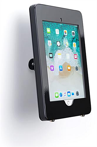 Wall mount iPad Pro tablet kiosk with durable metal construction