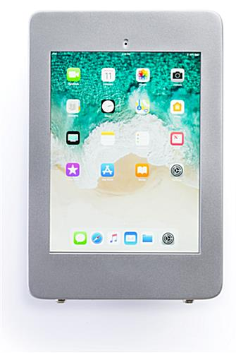 Secure wall mount ipad pro tablet holder in portrait view