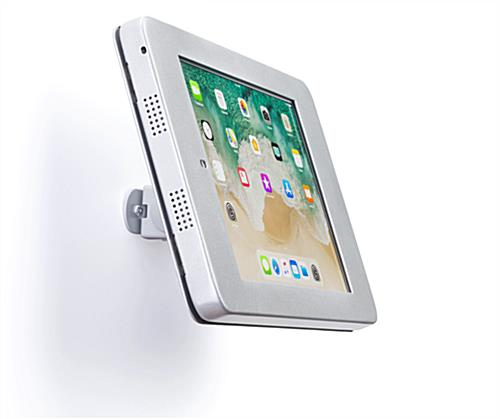 Secure wall mount ipad pro tablet holder with tiltable bracket