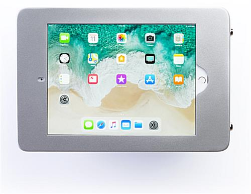 Wall mount iPad Pro tablet holder in landscape mode