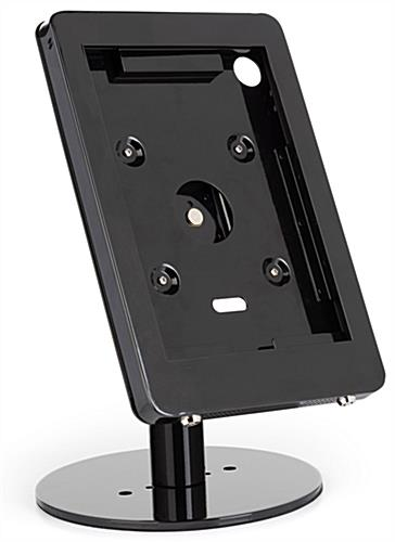 Black iPad POS enclosure with modern design and glossy finish