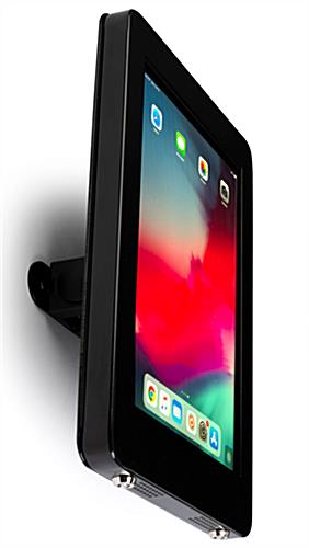 Conference room iPad mount with professional grade mounting hardware for safety