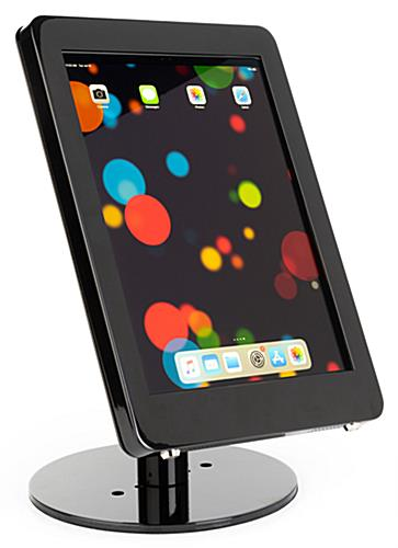 Black iPad Pro POS stand with sturdy base