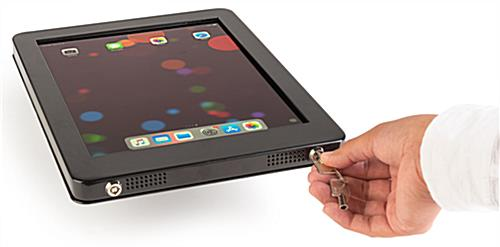 iPad POS kiosk with dual-locking theft prevention enclosure