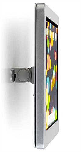 Secure iPad wall mount with theft prevention locking enclosure