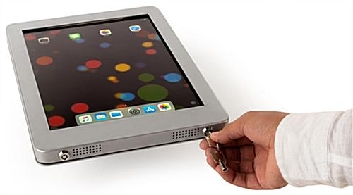 Secure iPad wall mount with theft prevention lockable aluminum enclosure
